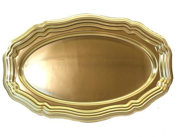 Golden Serving Platters